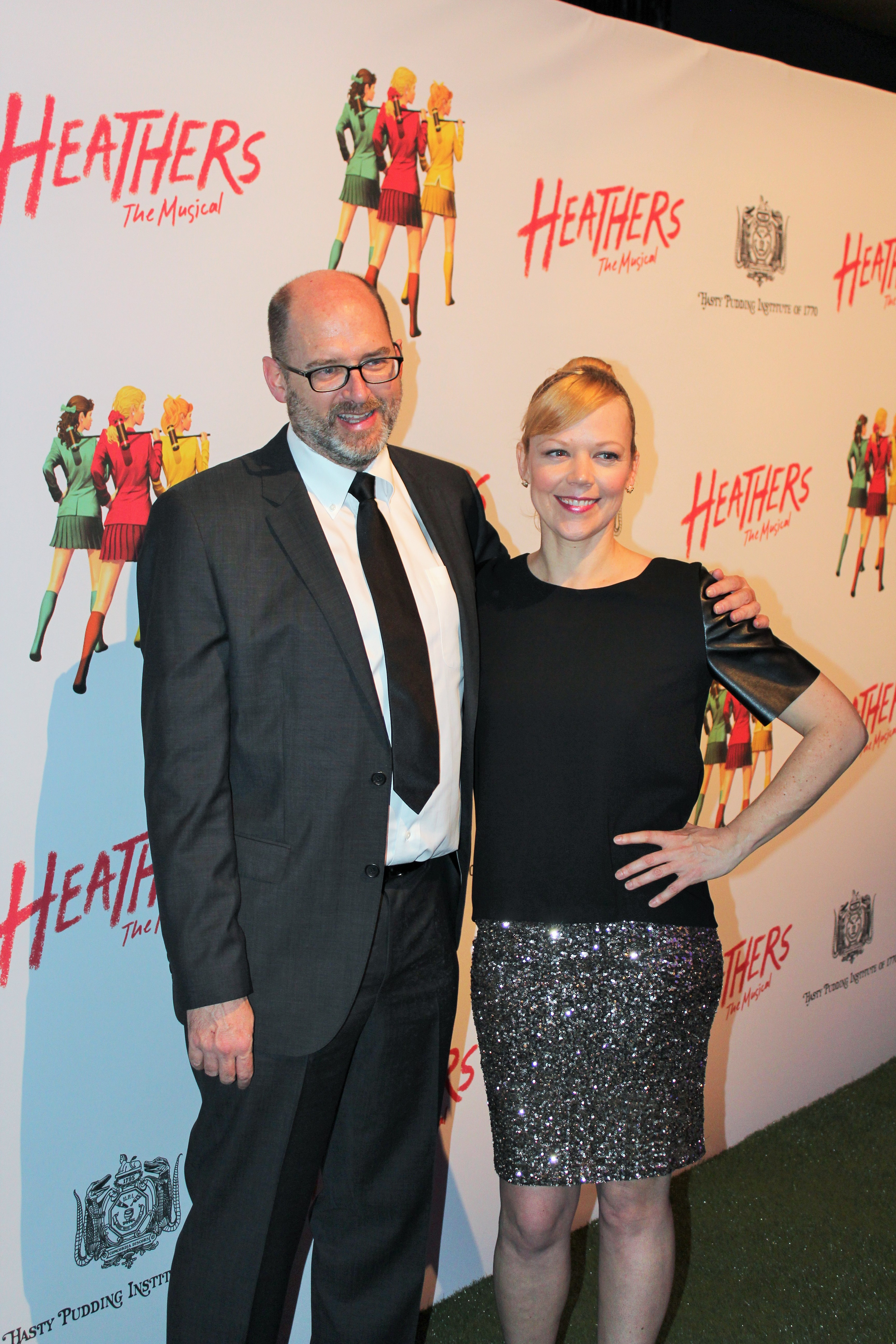 Heathers the musical opening night off broadway pretty little the man who started it all longtime friend and heathers screenwriter dan waters with the beautiful and talented emily bergl kristyandbryce Gallery